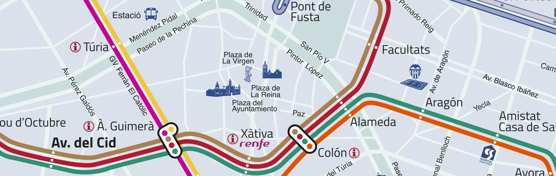 planol metro valencia